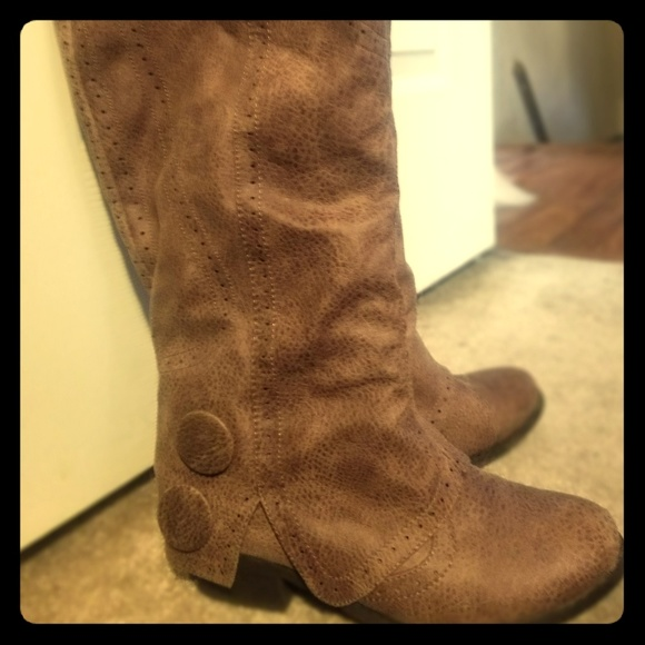 Not Rated Shoes - Knee high cowboy boots